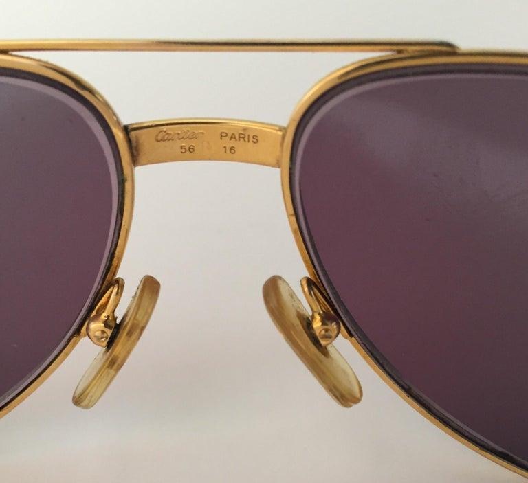 Cartier Vintage Large Vendome Santos Sunglasses with Box, 1980 9