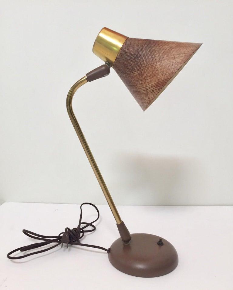 American Gerald Thurston Desk Table Lamp for Lightolier, 1950s For Sale