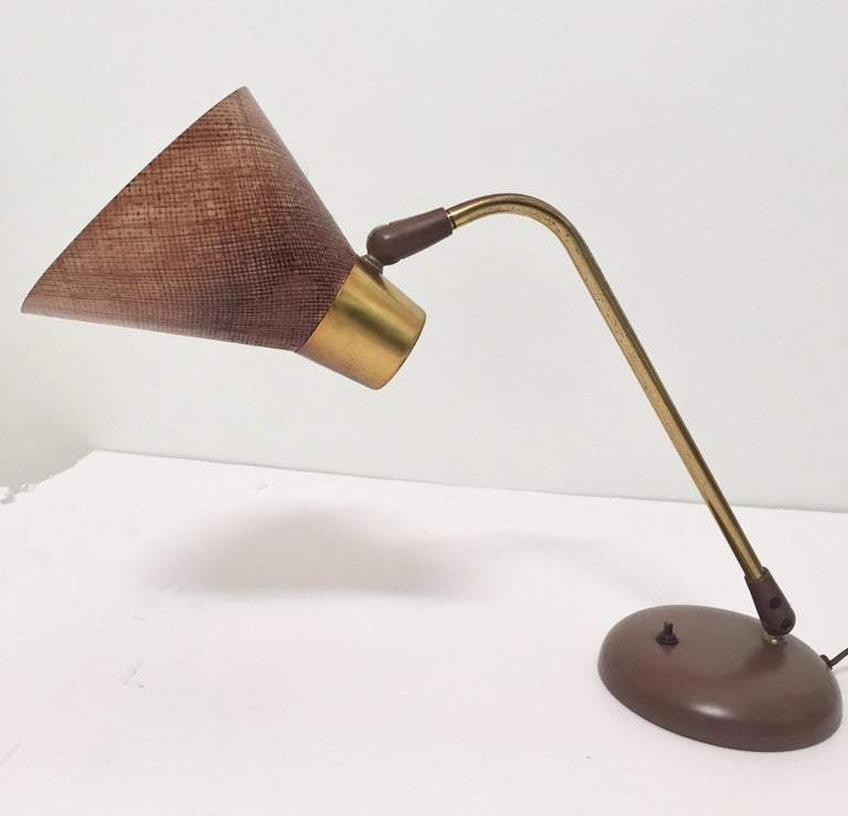 Gerald Thurston Desk Table Lamp for Lightolier, 1950s For Sale 2