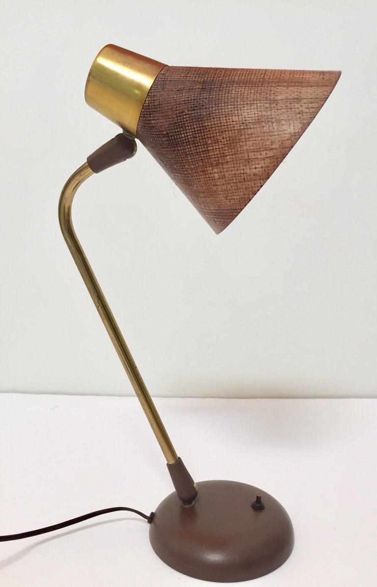 Gerald Thurston Desk Table Lamp for Lightolier, 1950s For Sale 3