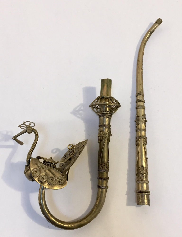 Asian Peacock Form Opium Pipe For Sale 2