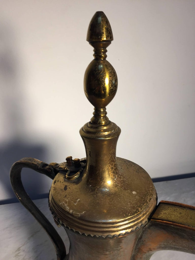 Omani 19th Century Dallah Middle Eastern Oversized Arabic Copper Coffee Pot For Sale