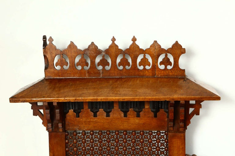 Antique 19th C. Moorish Syrian Settee with Mother-of-Pearl Inlay For Sale 3