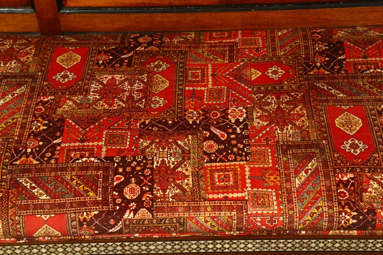 Antique 19th C. Moorish Syrian Settee with Mother-of-Pearl Inlay For Sale 4