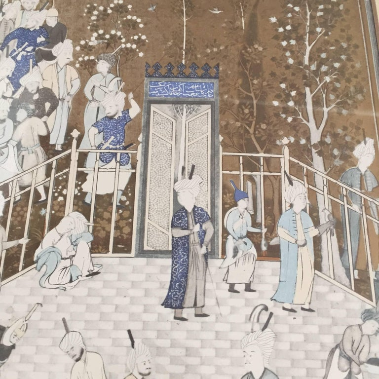 After a 16th Century Indian Mughal Style Miniature Painting For Sale 1
