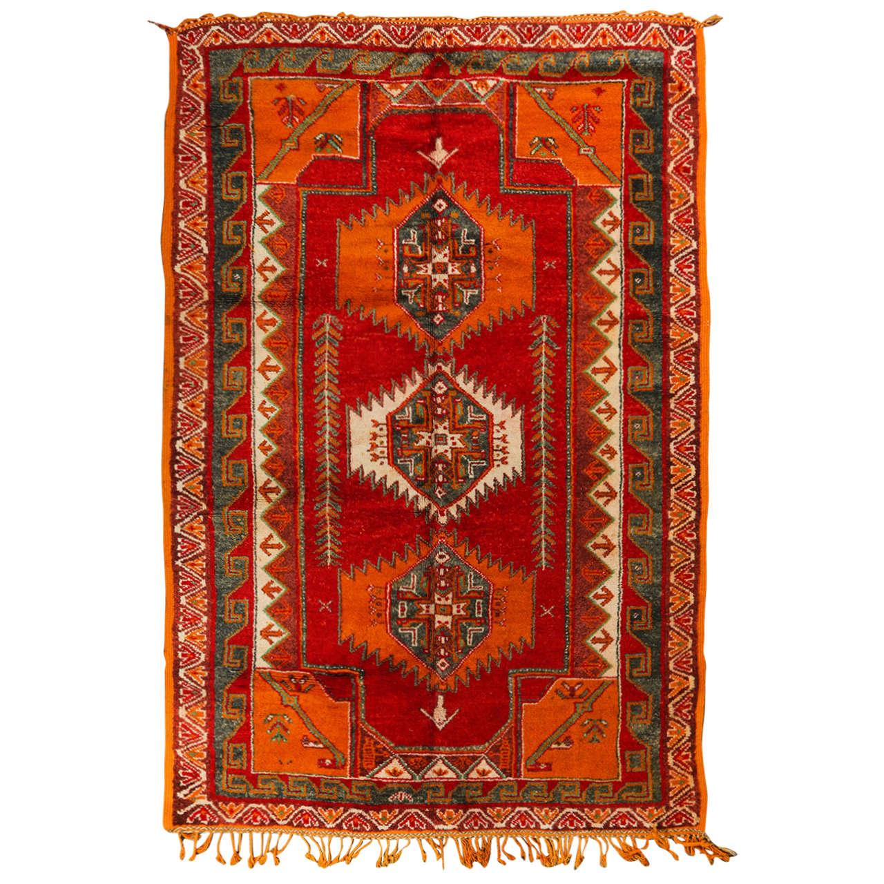 Moroccan Vintage Tribal Rug