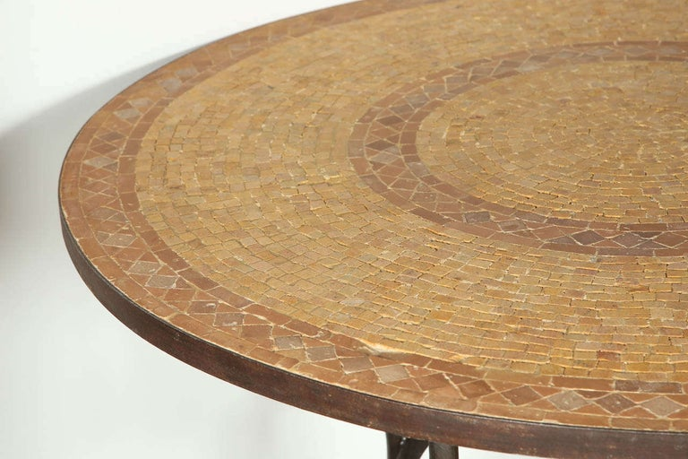 20th Century Moroccan Marble and Stone Mosaic Dining Table Indoor or Outdoor For Sale