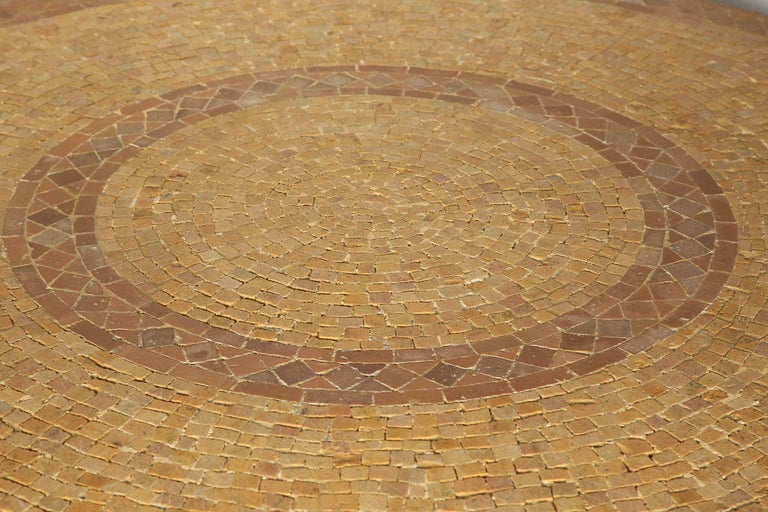 Moroccan Marble and Stone Mosaic Dining Table Indoor or Outdoor For Sale 1