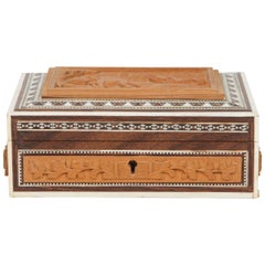 Anglo-Indian Vizagapatam Jewelry Inlaid Sadeli Box