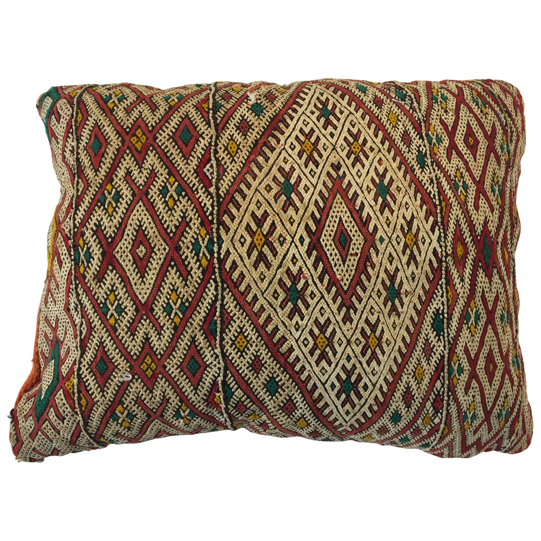 Handwoven Moroccan Tribal Berber Throw Pillow