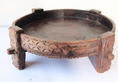 Antique Round Tribal Outdoor Table
