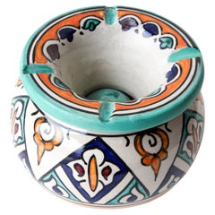 Moroccan Covered Ashtray from Fez