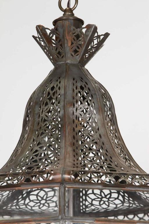 Moroccan Moorish Vintage Hanging Light Fixture For Sale at 1stdibs