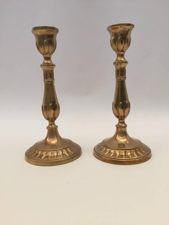 Louis XV Pair of Antique French Candlesticks For Sale