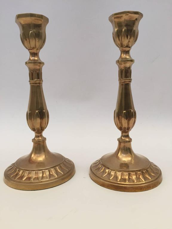 Pair of Antique French Candlesticks In Good Condition For Sale In North Hollywood, CA