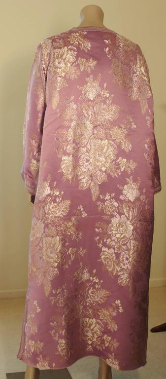 Moroccan Purple Brocade Caftan Gown Maxi Dress Kaftan Size M For Sale 3