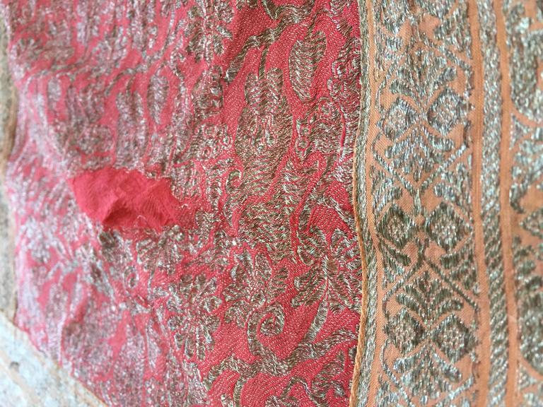 Indian Silk Sari Textile Quilt Patchwork, India For Sale