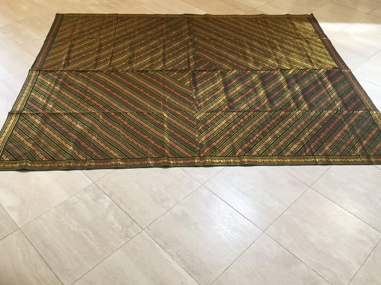 Green Bed Cover Patchwork From India For Sale At 1stdibs
