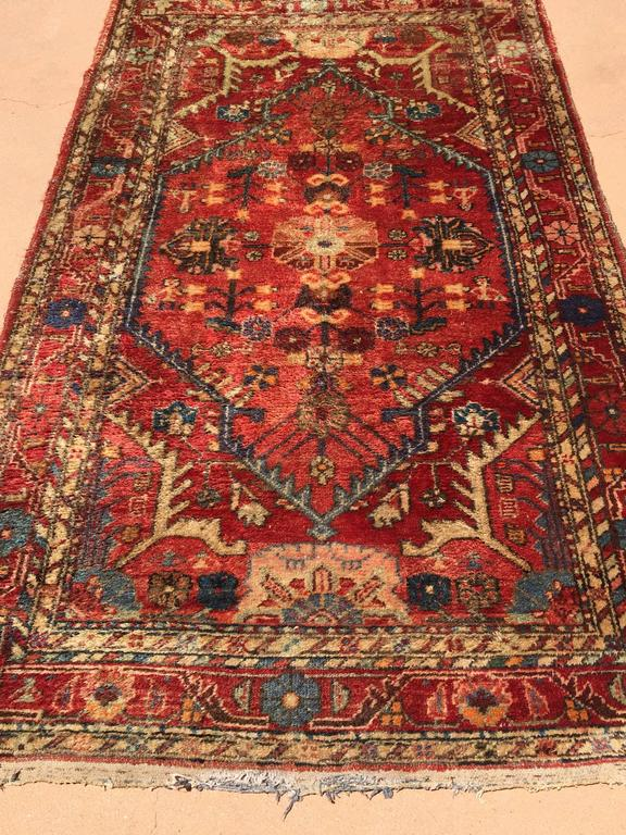 Bohemian Hand-Knotted Rug from Turkey For Sale