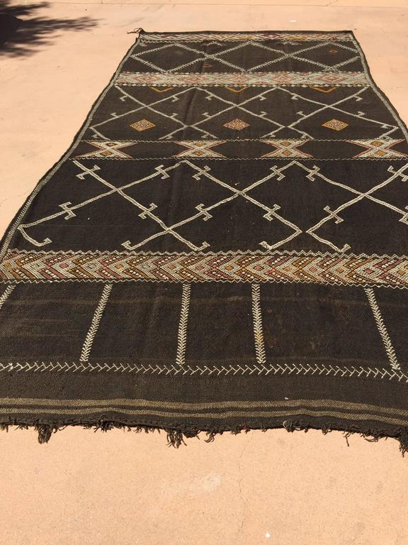 Vintage Moroccan African Nomadic Tribal Rug For Sale At