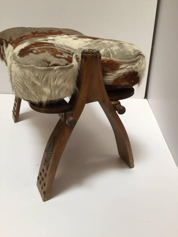 Moroccan Vintage Camel Saddle Stool For Sale At 1stdibs