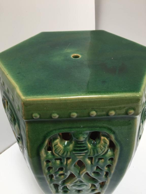20th Century Green Chinese Ceramic Garden Stool For Sale