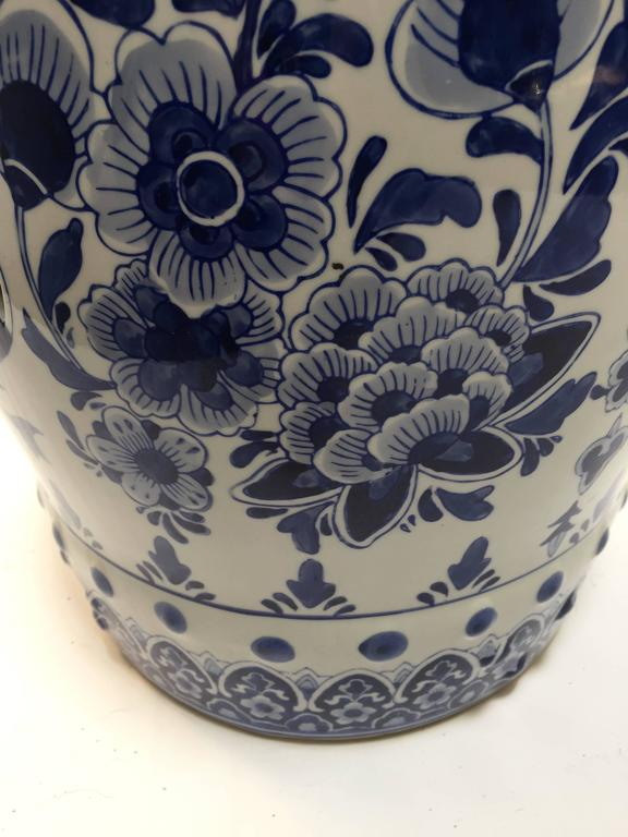 Blue And White Chinese Ceramic Garden Stool At 1stdibs