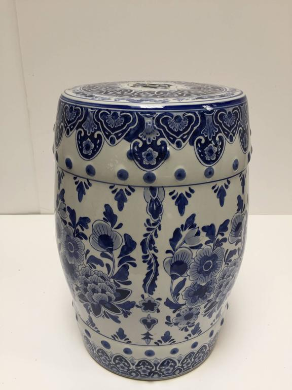 Blue And White Chinese Ceramic Garden Stool For Sale At 1stdibs