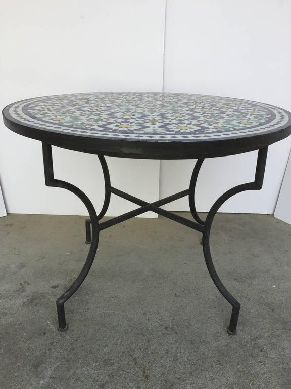 Moroccan Outdoor Mosaic Tile Table From Fez In Traditional