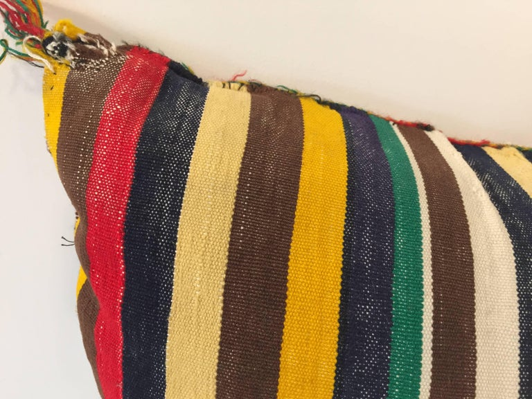 Moroccan Berber Pillow with Tribal African Designs For Sale 1