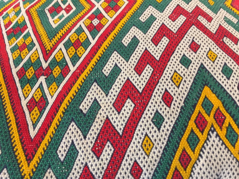 20th Century Moroccan Berber Pillow with Tribal African Designs For Sale