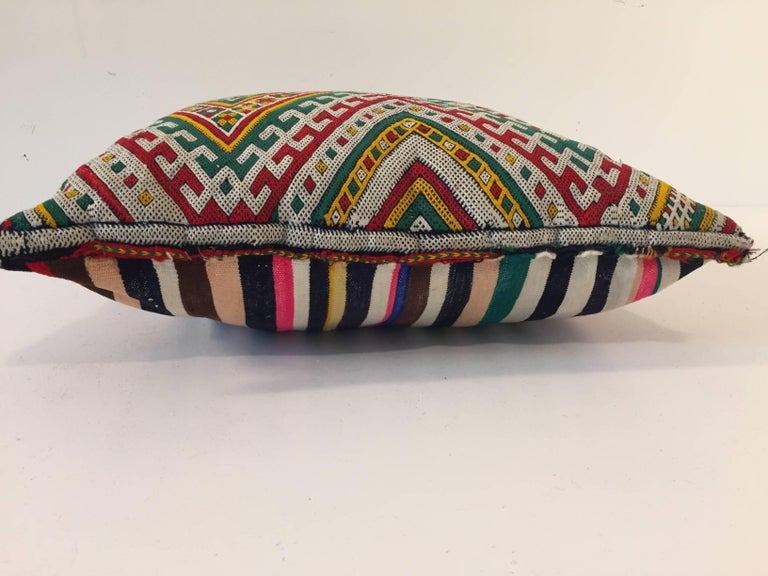 Moroccan Berber Pillow with Tribal African Designs For Sale 2