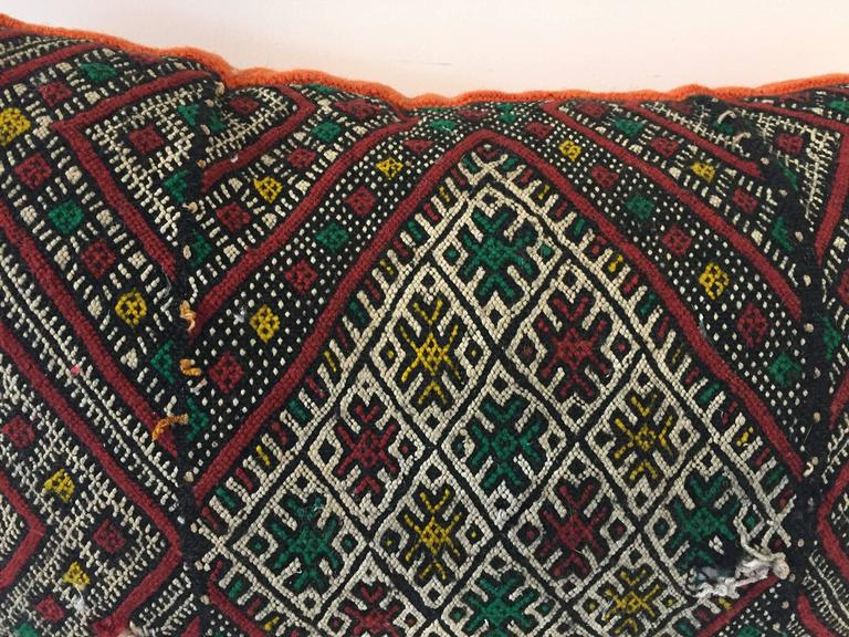 Vegetable Dyed Moroccan Tribal Throw Pillow For Sale