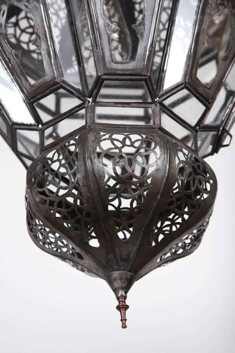Hand-Crafted Moroccan Moorish Hanging Pendant Light For Sale