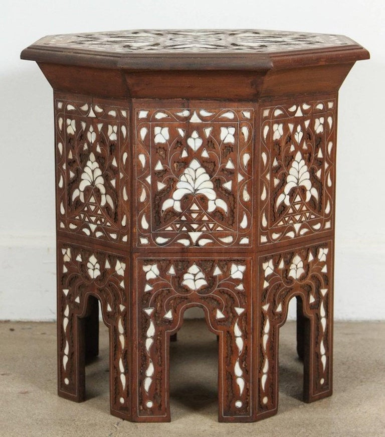 A Syrian Mother Of Pearl Bench Available To Purchase At: Syrian Mother-of-Pearl Inlaid Side Table For Sale At 1stdibs