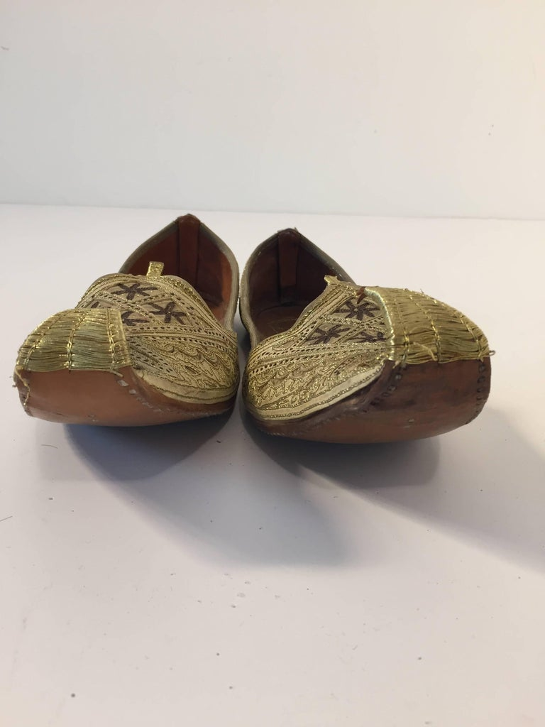 Handcrafted Arabian Embroidered Slippers Shoes For Sale At ...