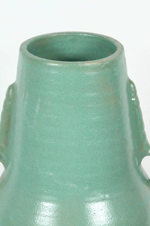 Hand-Crafted Moroccan Turquoise Handcrafted Ceramic Vase For Sale