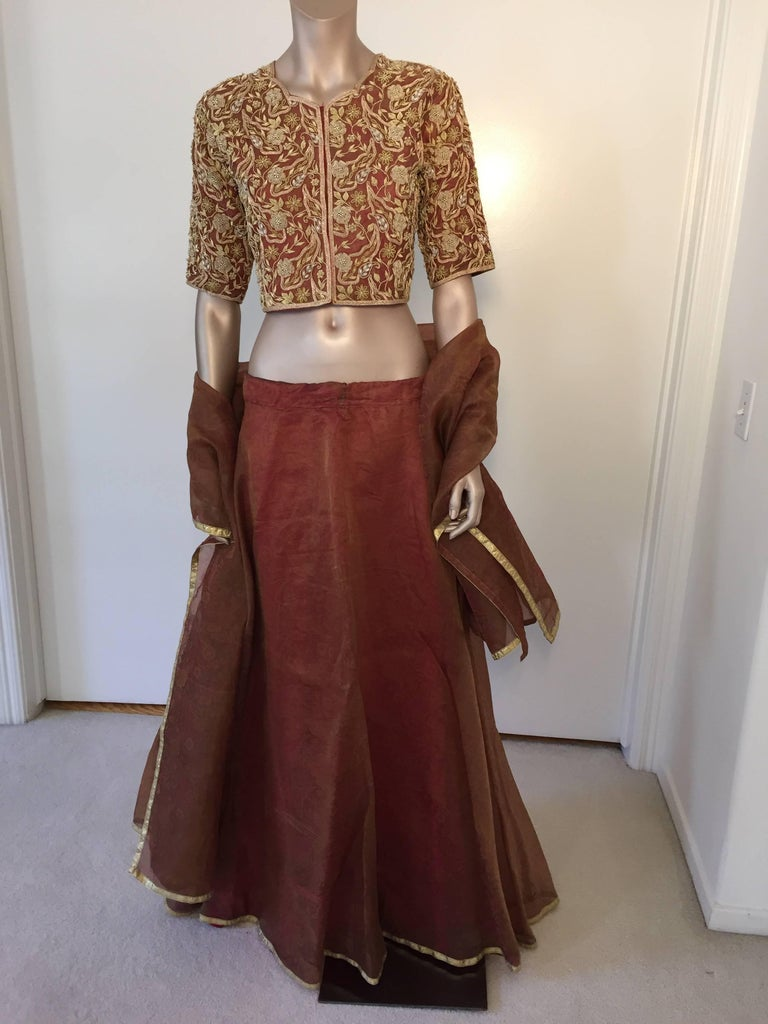 Bollywood star silk sari custom designer beaded for Sari furniture designer