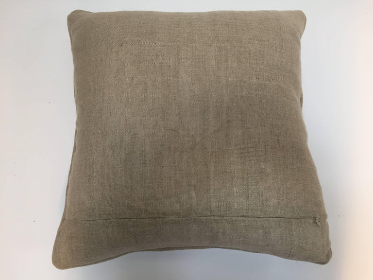 Throw Decorative Accent Pillow Embroidered with Moorish Metallic Threads Design For Sale 2