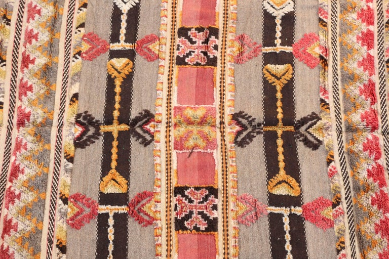 Hand-Woven Moroccan Tribal Berber Vintage Rug For Sale
