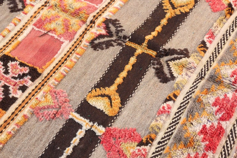 20th Century Moroccan Tribal Berber Vintage Rug For Sale