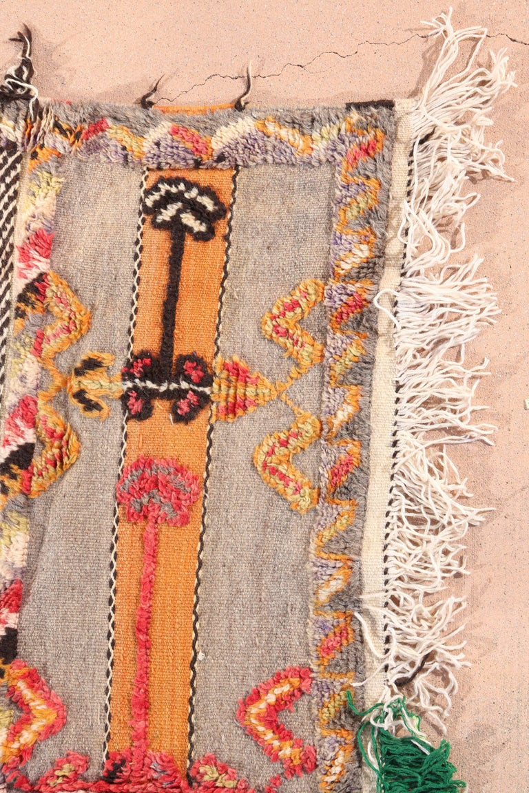 Wool Moroccan Tribal Berber Vintage Rug For Sale