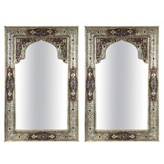 Moroccan Mirror with Silver Filigree