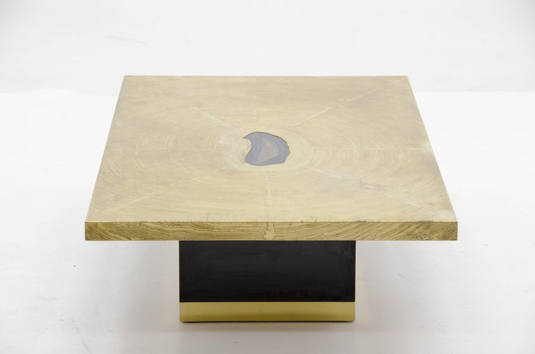 Etched Coffee Table by Georges Mathias For Sale