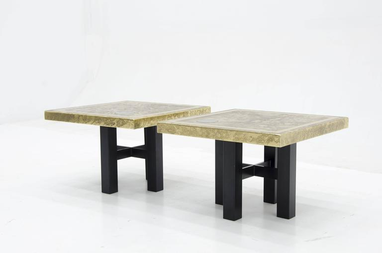 Mid-Century Modern Side Tables by Lova Creation For Sale