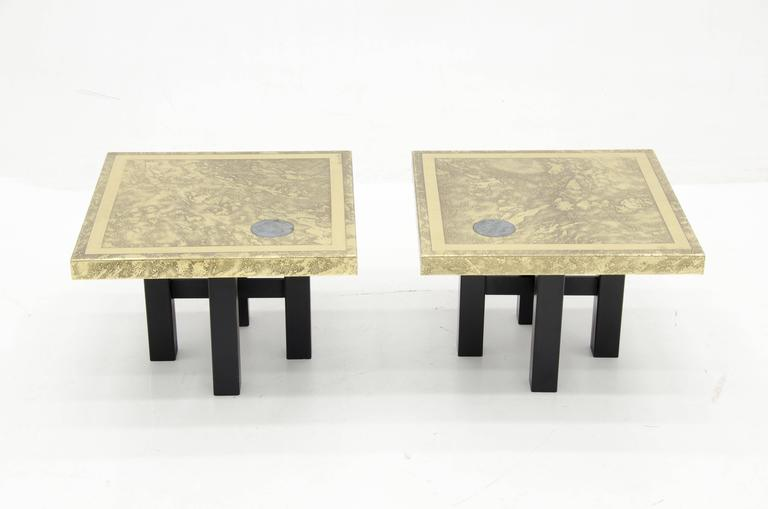 Belgian Side Tables by Lova Creation For Sale