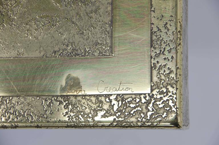 Etched Side Tables by Lova Creation For Sale