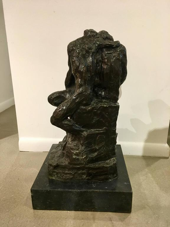 Amazing and extremely rare of bronze sculpture by Rik Wouters, circa 1910,