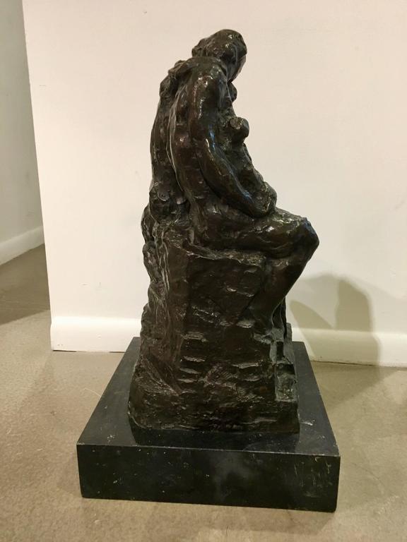 Art Nouveau Bronze Sculpture by Rik Wouters For Sale