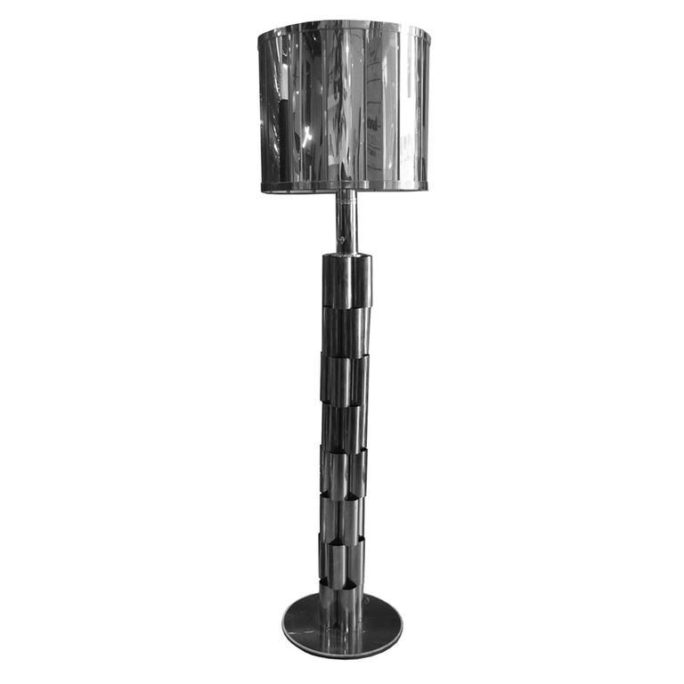 1970s Chrome Metal Floor Lamp